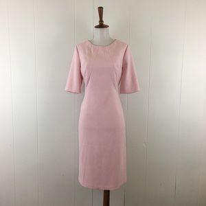 Eliza J Short Sleeve Crew Neck Sheath Dress